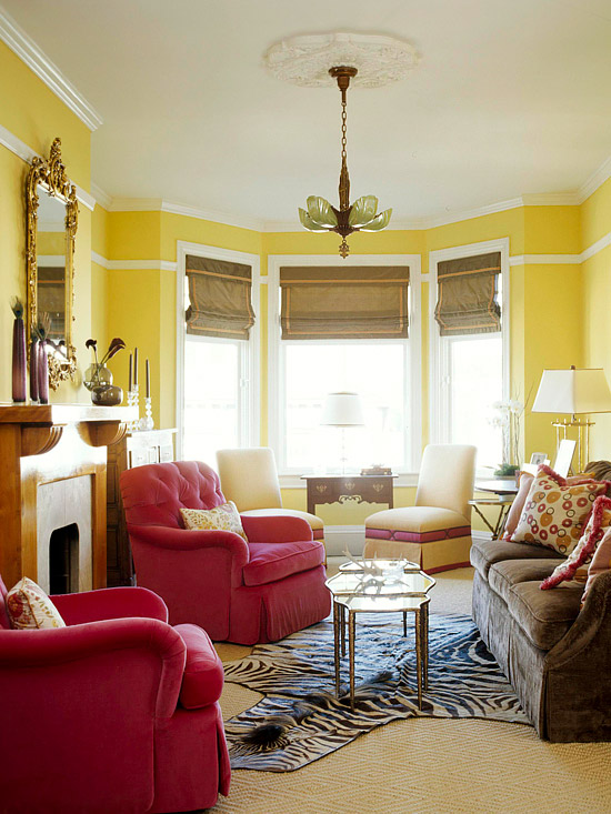 Contemporary Grey And Yellow Living Room Ideas Decoration