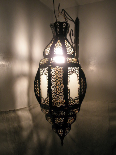 Hanging Moroccan Lantern from Badia Design