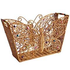Handmade Storage Basket · Butterfly Magazine Basket