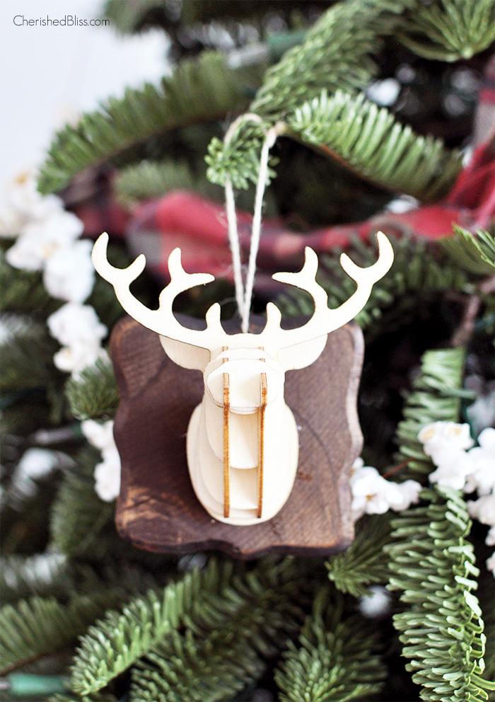 3D deer head ornaments