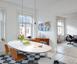 Three rooms apartment with a big modern kitchen