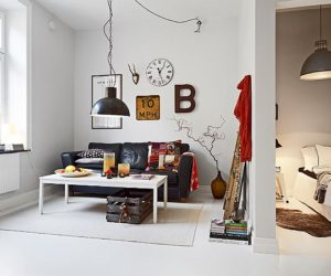 Small Nordic Apartment With Industrial Touches
