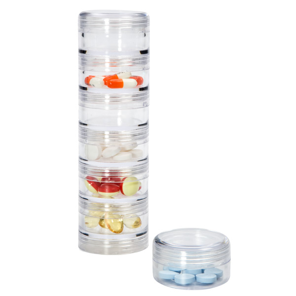 Beautiful 7 Section Stacking Pill Organizer With Labels Amazing Pictures