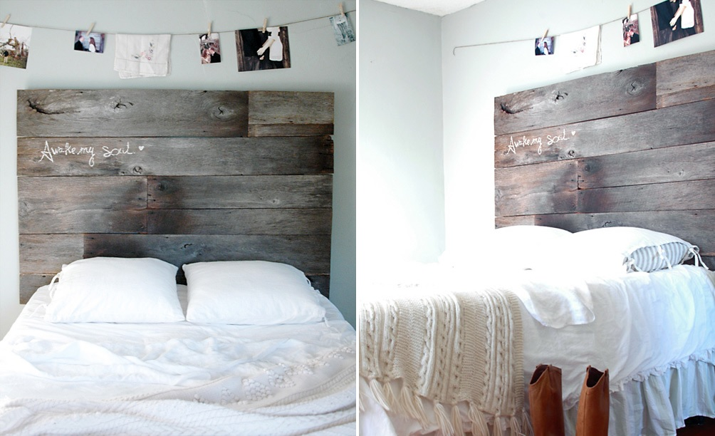 Cheap Headboard Ideas Part - 43: Barnwood Headboard DIY
