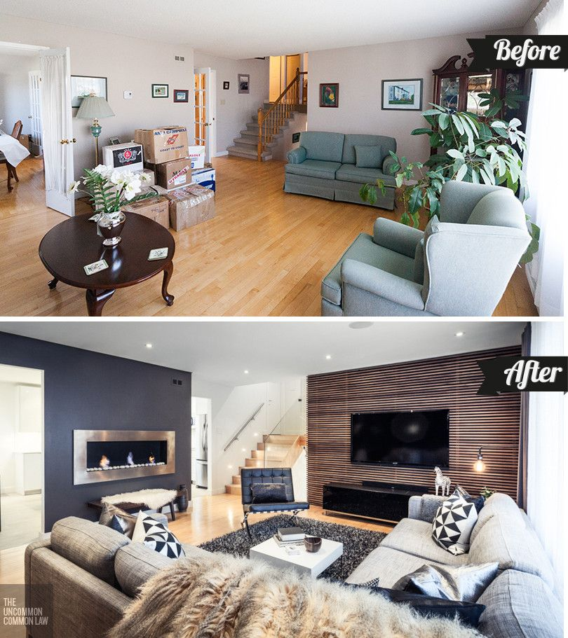 How to boost your home 39 s d cor with a living room makeover - Living room renovation before and after ...