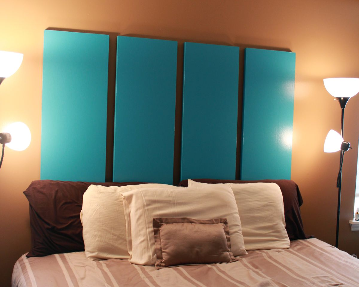 Blue Folding Closet Doors Headboard