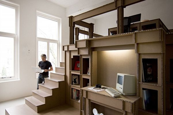 The Cardboard Office Interior Design For Advertising Agency Nothing