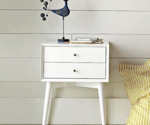 Chic and simple mid-century nightstand