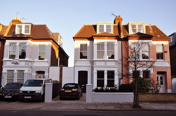 Extension to an edwardian semi detached house with a for Modern house london