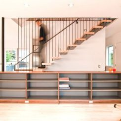 Modern Integrated Staircase Cabinet Idea