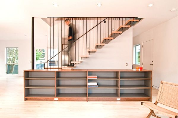 Modern Integrated Staircase Cabinet