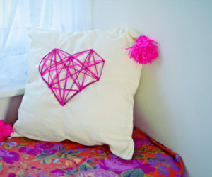 Cuddly DIY Accent Pillows Featuring Cute Heart Designs