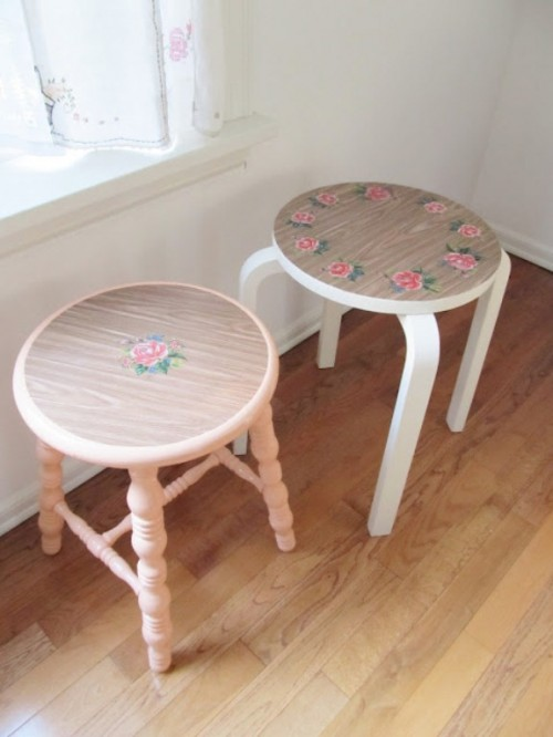 DIY Pretty Vintage Stools