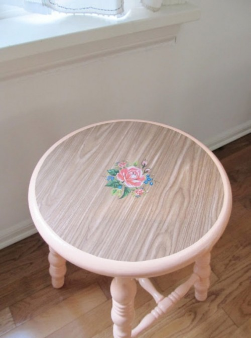 DIY Pretty Vintage Stools4