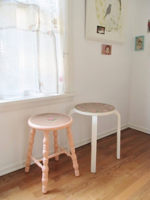DIY Pretty Vintage Stools5