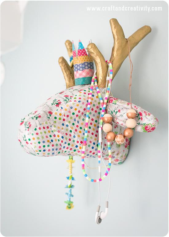 Deer head decorated