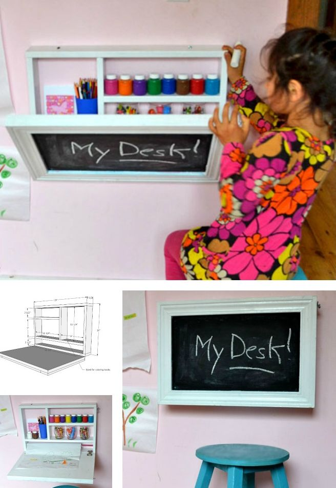 Flip down desk for small spaces