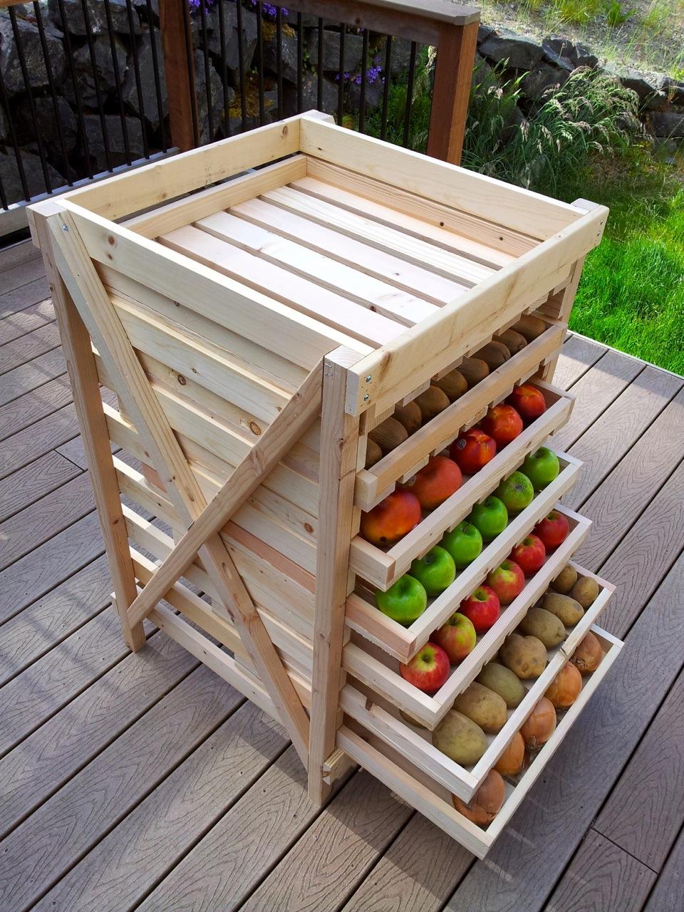Food storage shelf diy