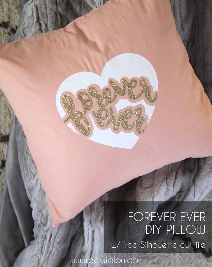 Forever ever pillow heart shapped