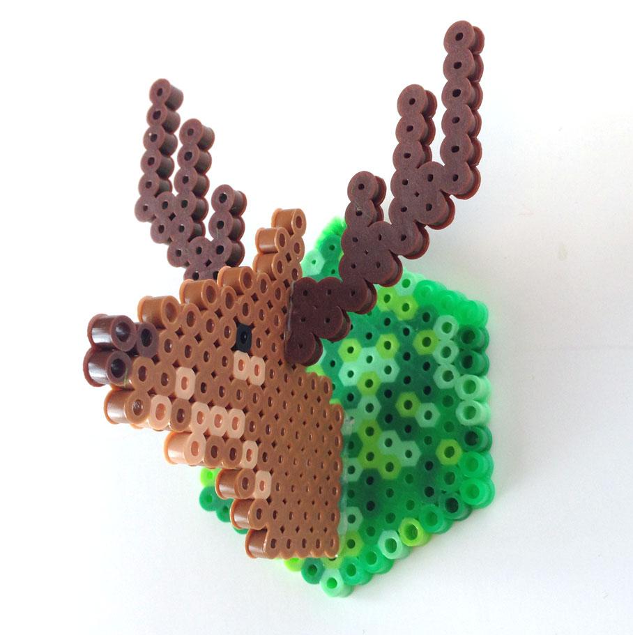 Fuse bead deer ornament