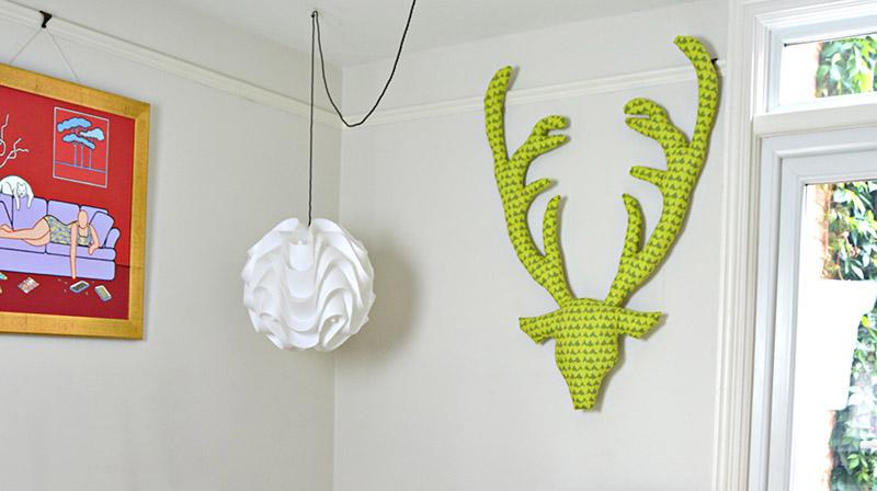 Green Feld deer Head