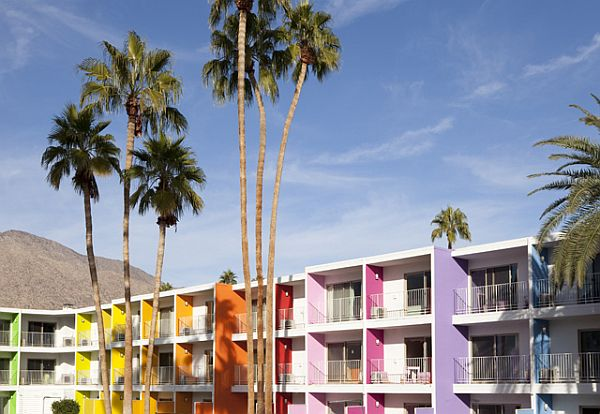 Charmant Colorful Saguaro Hotel In Palm Springs