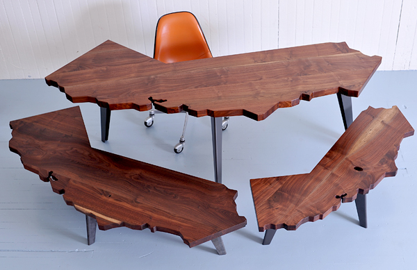 The California Collection Of Desks And Tables By J Rusten Furniture Studio