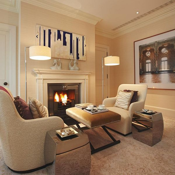 Luxurious contemporary apartment interior design in london for Interior designs london