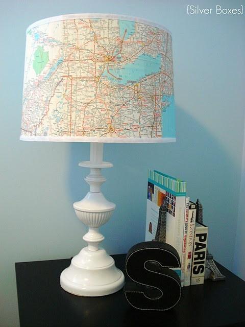 Lamp Map shade