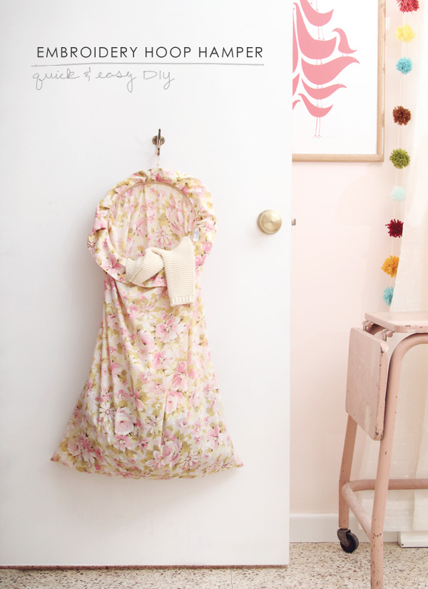 Make Your Own Hanging Laundry Hamper
