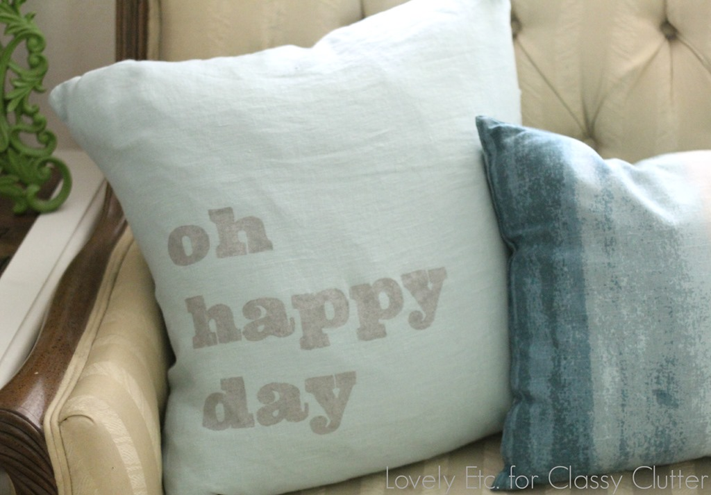 Oh happy day Pillow stencil