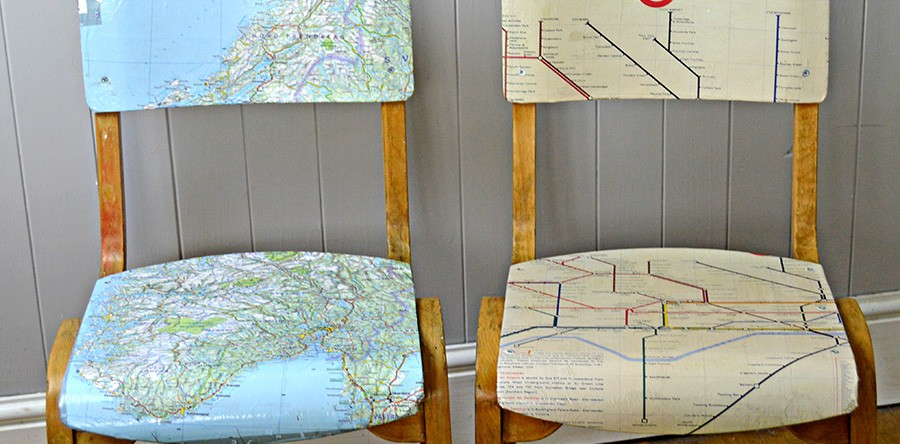 Personalised map chairs