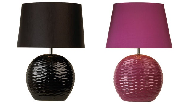 Table ripple lamp in blackcreamchocolate and aubergine view in gallery mozeypictures