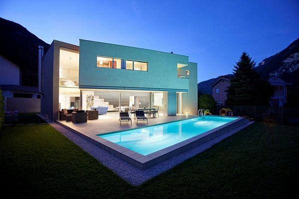 A 640 sqm modern switzerland house for Modernes haus zurich