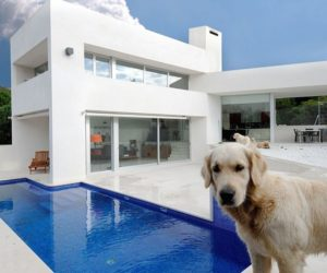 Pure white contemporary two story home located in Valdemorillo