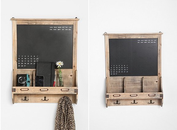 Diy Calendar Holder : Vintage wood chalkboard calendar