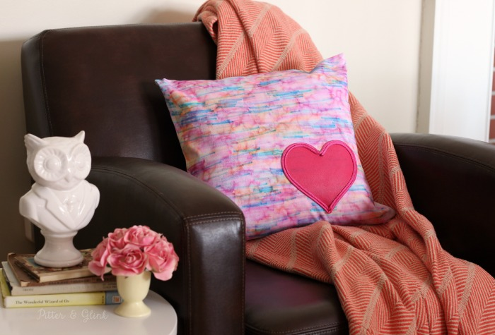 Water color hearth pillow