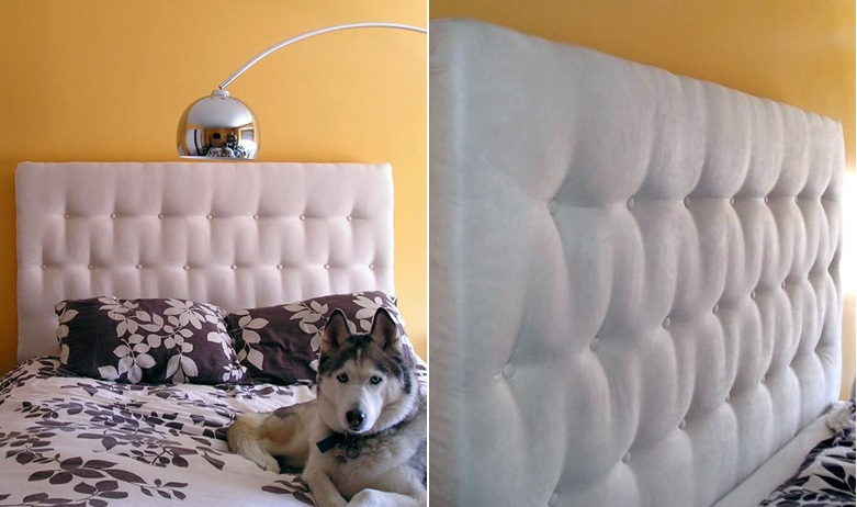 White Tufted Headboard DIY