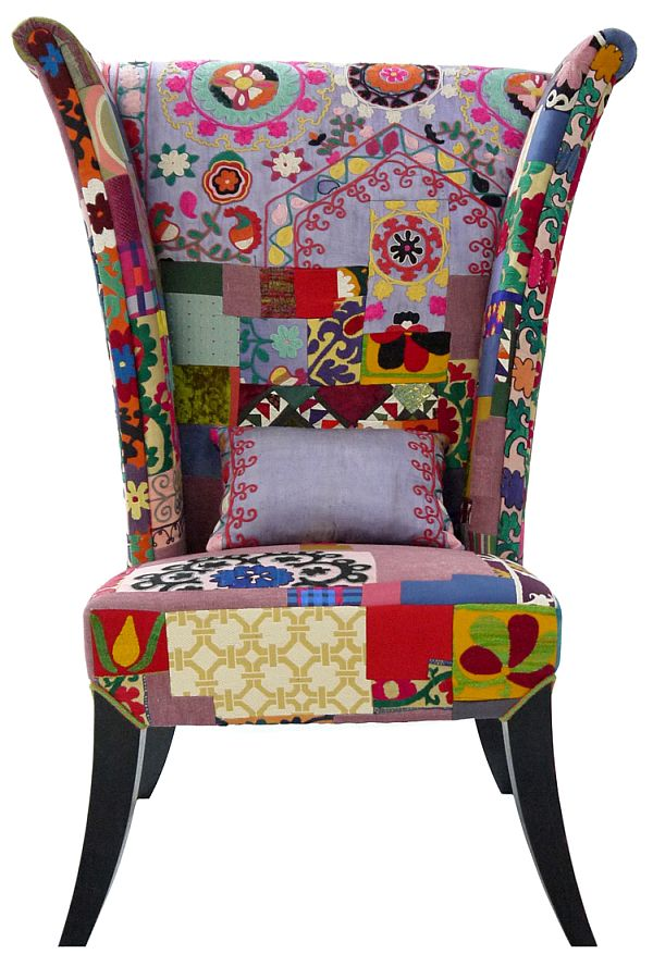 The colorful prague chair from the xalcharo collection for Interesting armchairs