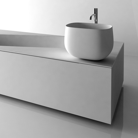 simple washer basin from antonio lupi. Black Bedroom Furniture Sets. Home Design Ideas