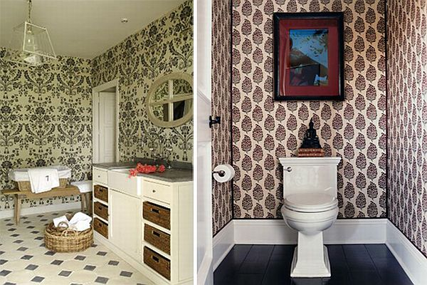 How to add elegance to a bathroom with wallpapers for Paintable wallpaper for bathroom