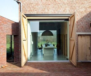 Brick Facade Rabbit Residence by LENS'ASS architecten