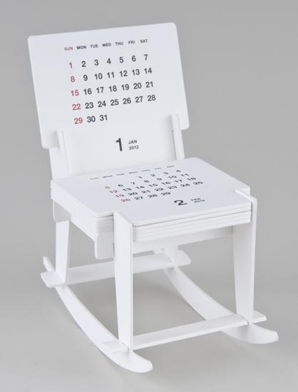 Funny Rocking Chair Sculpture Calendar 2012