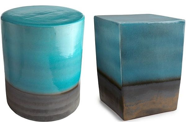 Colorful Ceramic Table And Stool Sets