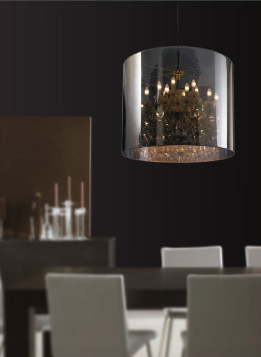 Stylish crystal pendant lamp