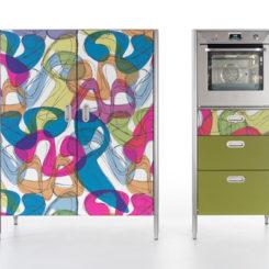 Colorful Alpes Kitchen By Karim Rashid Nice Design