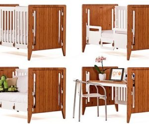 Reconfigurable crib that you can use from the day you're born, until the day you die