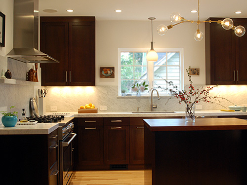 The 35th avenue design residence in an existing 1920 39 s for Color combination for kitchen cabinets