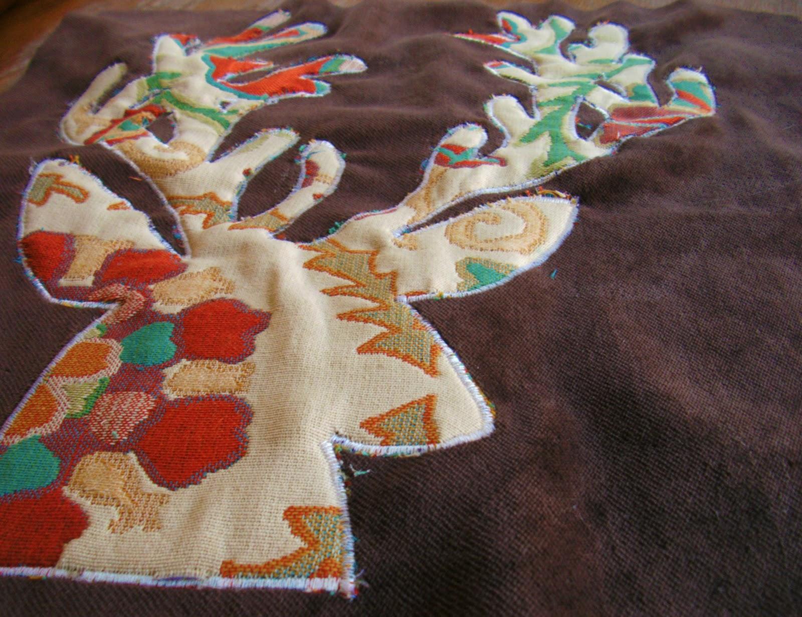 deer-inspired pillow