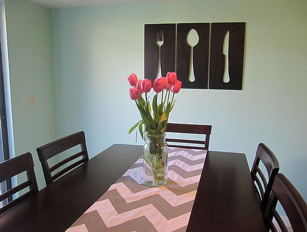 15 easy diy wall art ideas you 39 ll fall in love with for Dining room metal wall art